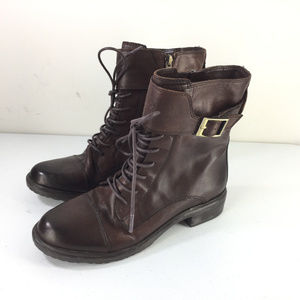 Vince Camuto Taryn Boot 6.5 Brown leather Military